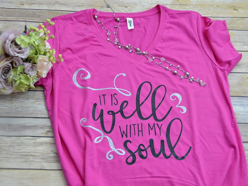 It Is Well With My Soul Short Sleeve V-Neck Shirt