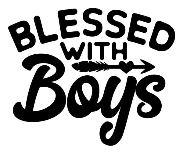 Blessed with Boys Decal