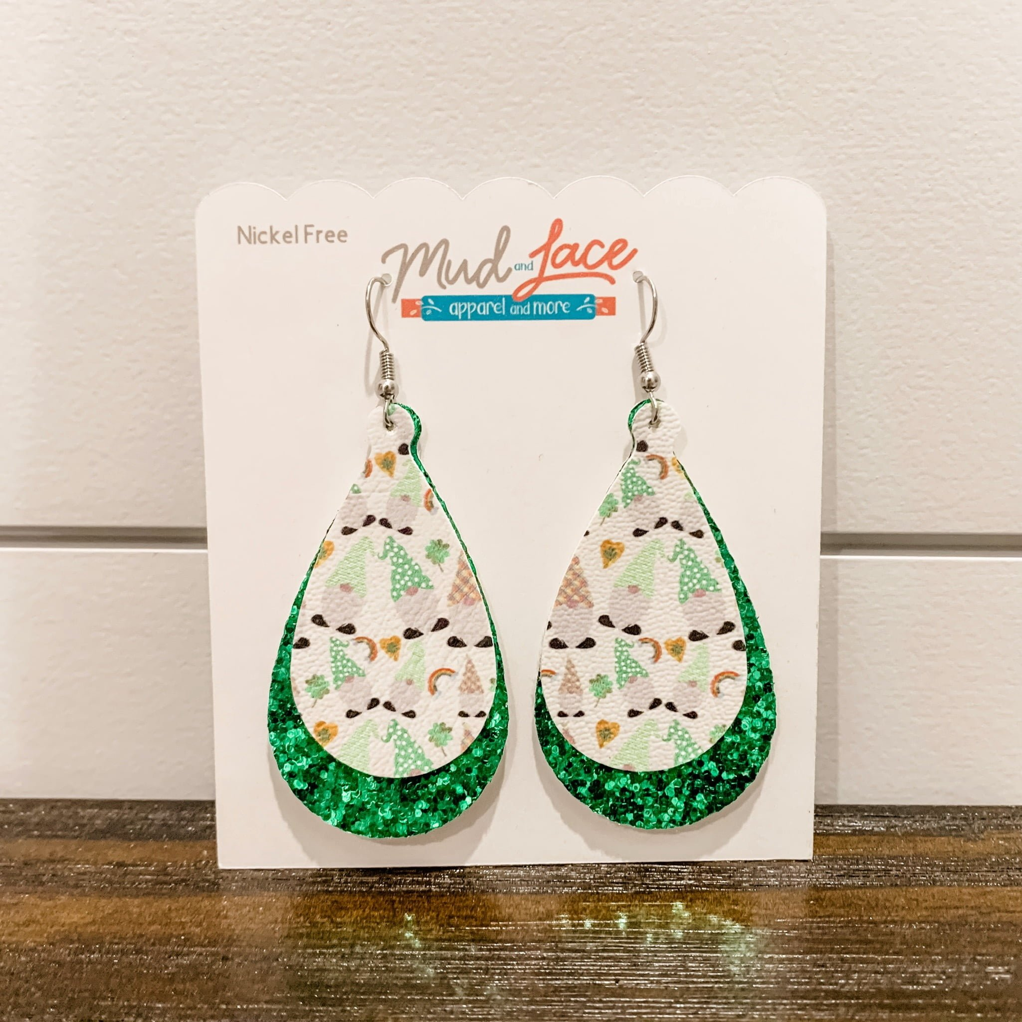 St. Patrick's Day Gnomes and Rainbows Earrings