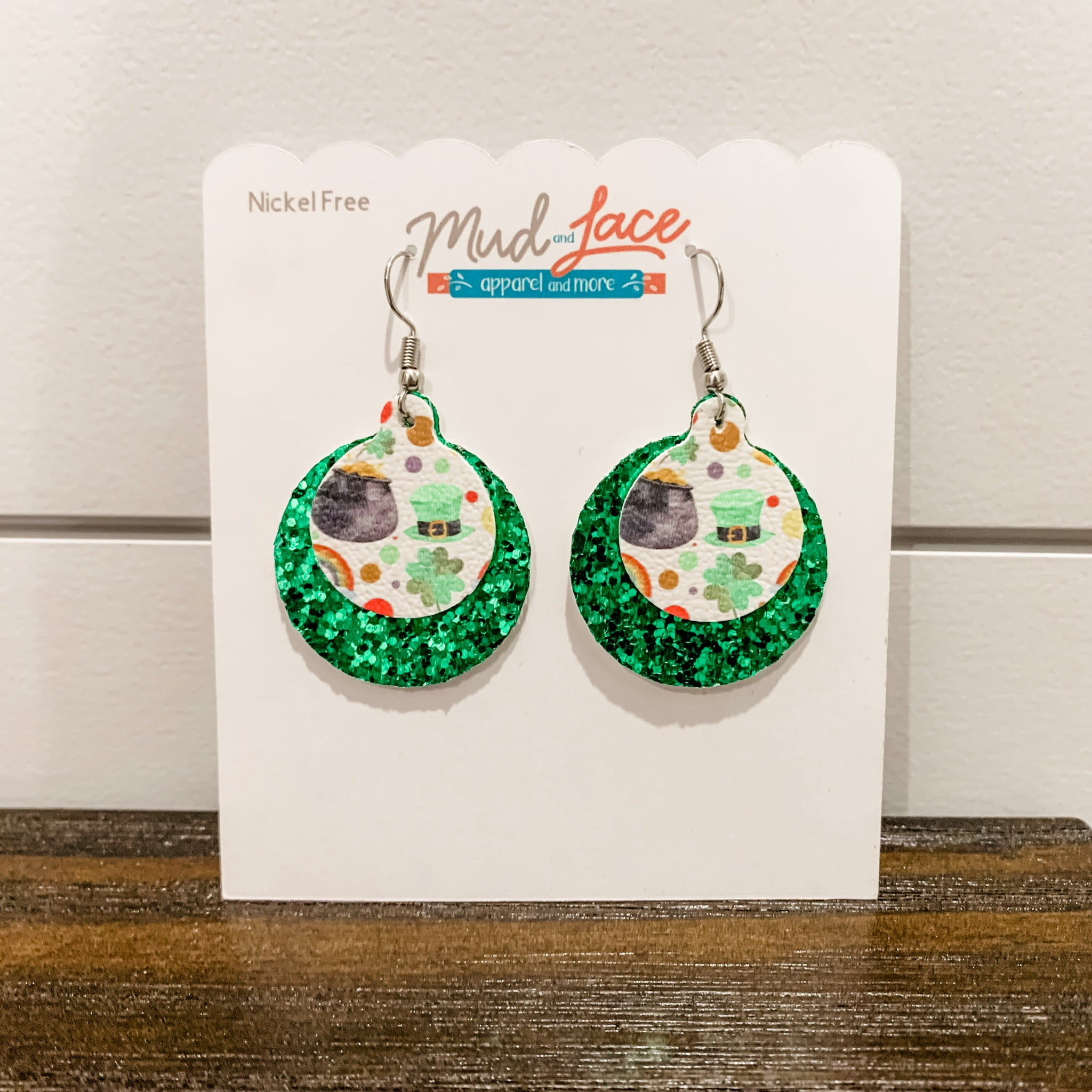 St. Patrick's Day Pot of Gold Earrings