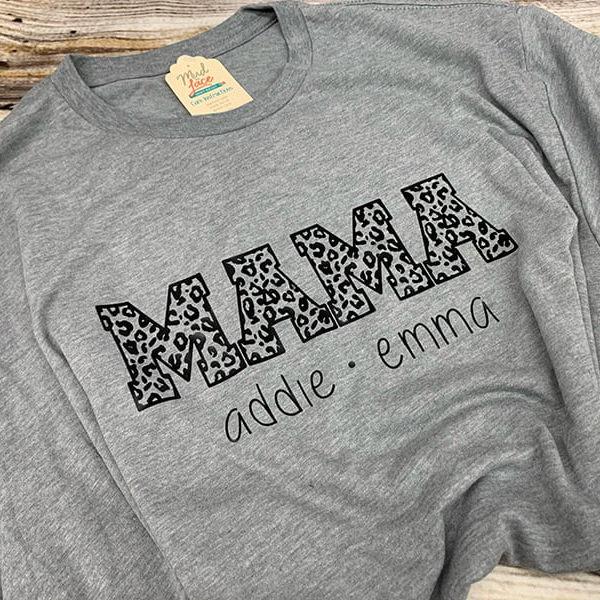Mama Leopard Personalized shirt