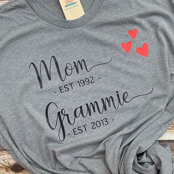 Mom Grandma Established Shirt