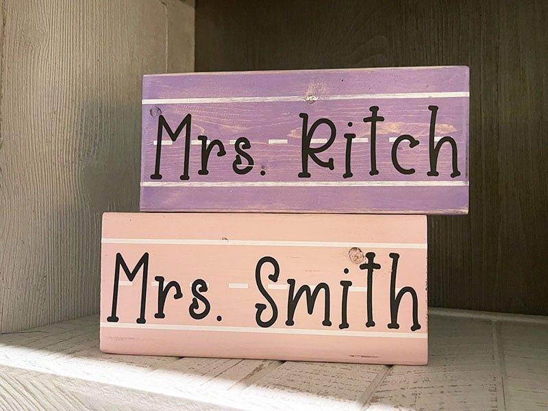 Teacher Appreciation Wood Blocks