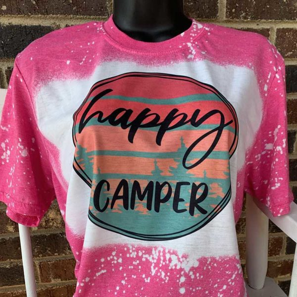 Happy Camper Bleached Shirt