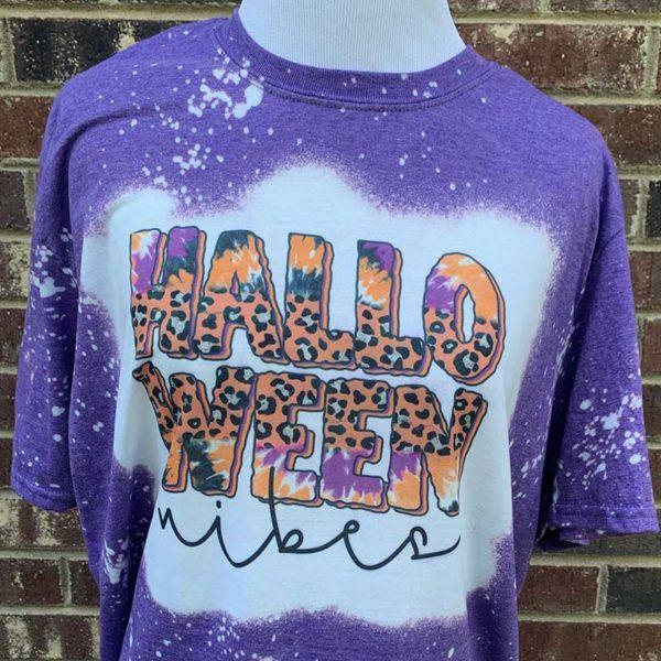 Halloween Vibes Bleached Shirt