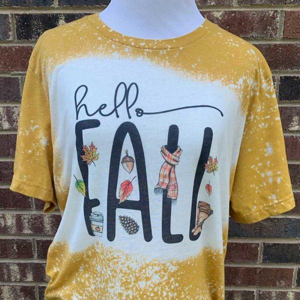 Hello Fall Bleached Shirt
