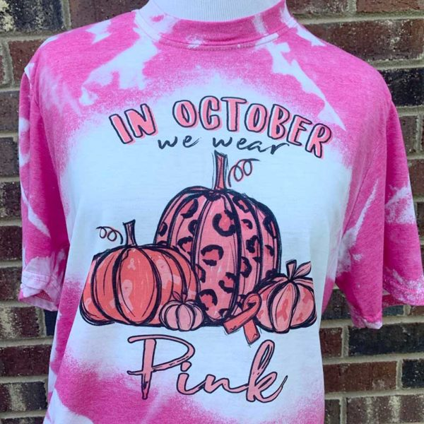 In October We Wear Pink Bleached Shirt