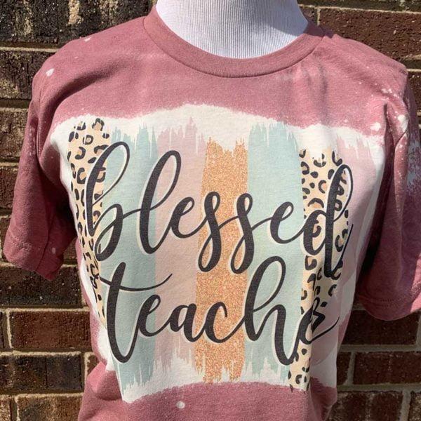 Blessed Teacher Bleached Shirt