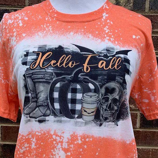 Hello Fall Spooky Halloween Shirt