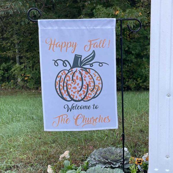 Hello Fall Pumpkin Garden Flag